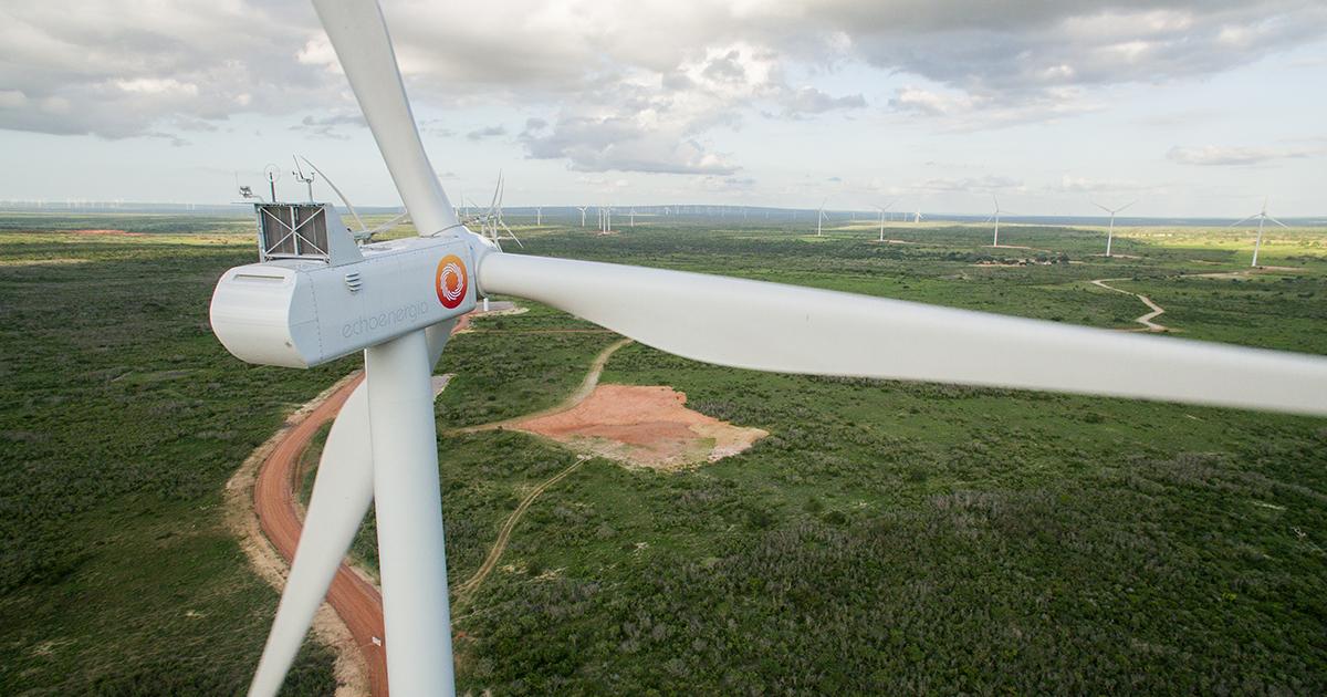 Como é produzida e distribuída a energia eólica?