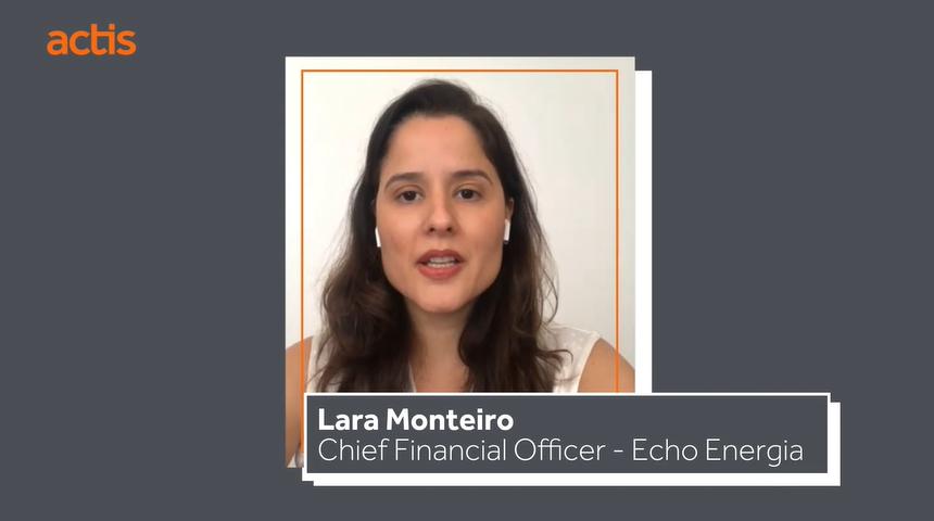 (Português do Brasil) CFO Lara Monteiro apresenta sua trajetória profissional em página da Actis sobre inclusão e diversidade